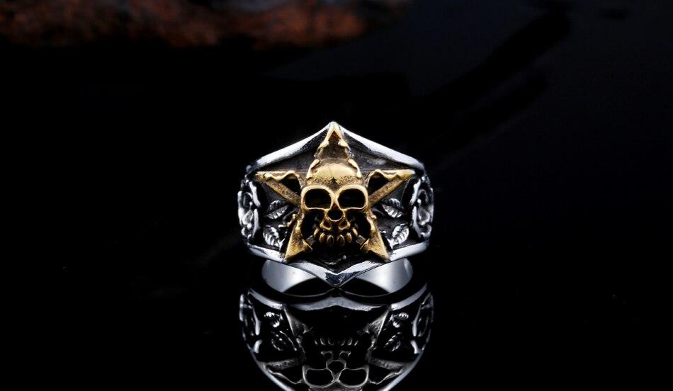 แหวนโคตรเท่ห์ Code 023 แหวนดาวห้าแฉก สแตนเลส7