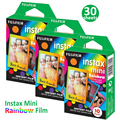 Fujifilm Instax Mini Film 10-30 листов радужных пленок фотобумага для Fujifilm Instant Camera Mini 9 11 8 Link Sp-1 Sp-2 принтер