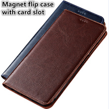 SS09 Genuine leather flip phone bag with card slot for Blackberry Key2 phone case for Blackberry Key2 flip case