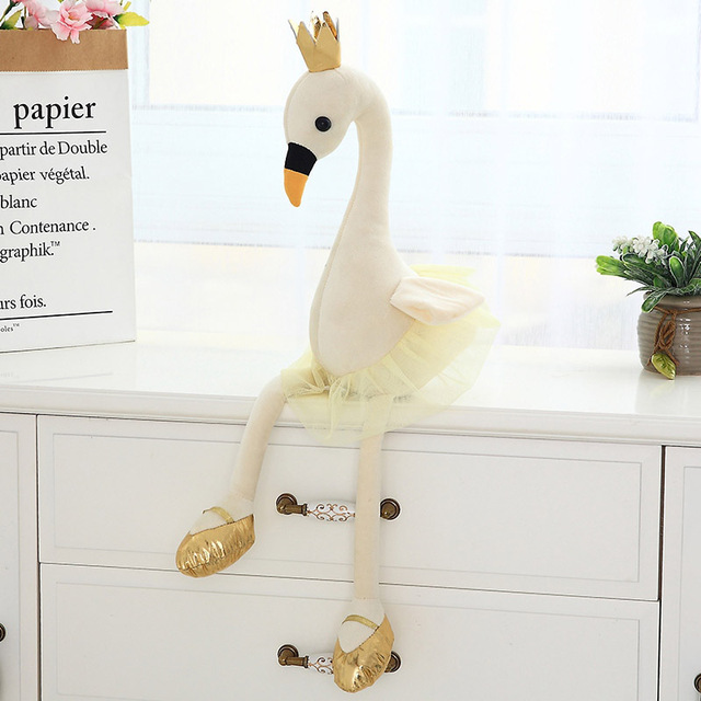 Direct Sale Ins Celebrity Crown Stuffed Flamingo Soft Toys Swan with Crown Flamingo Plush Toys