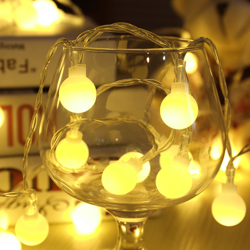 5M 50leds LED Bulb Light Fairy String Ball Lights USB Home Outdoor Decoration Christmas Holiday Party guirlande lumineuse Lamp ...