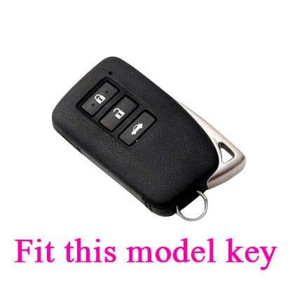 Kauczuk silikonowy obudowa breloczka na klucze skóry uchwyt ochronny dla Lexus IS ES GS NX GX RX LX RC 200 250 300 350 keyless 3 przyciski