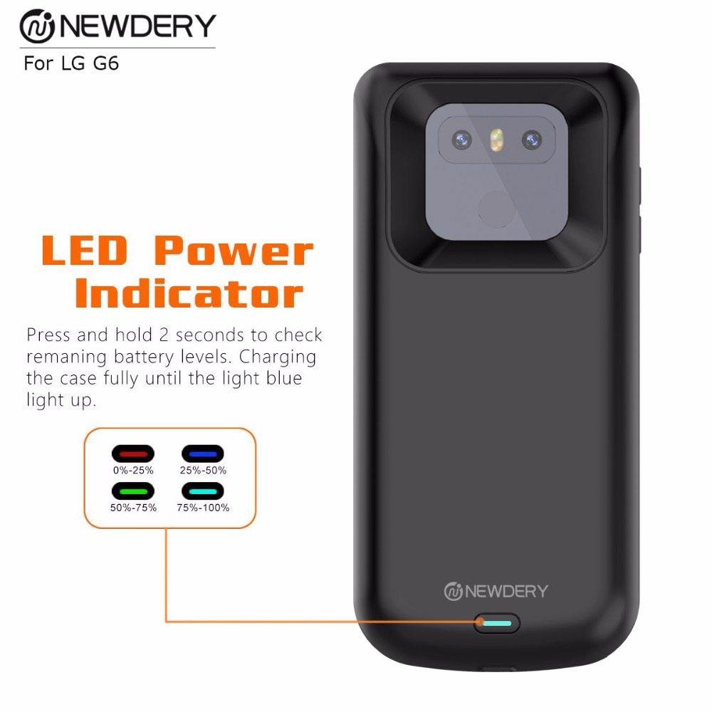 US $34 99 |Protective Charging Battery Case for LG G6 Rechargeable Portable  Charger Case High Capacity Extended Power Bank Case-in Battery Charger