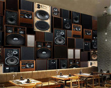 beibehang Customize any size wallpaper murals 3D European style retro KTV audio speakers background wall 3d
