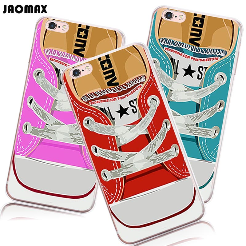 Jaomax Fashion Sneaker Converse Canvas Shoes Pattern Silicone Case For iPhone Xr Xs Max 8 6 Plus