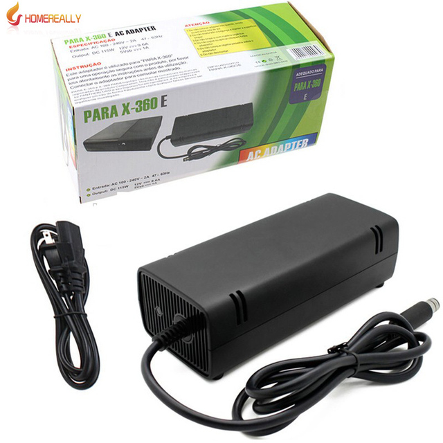 New Arrival 12V 135W For Xbox360 E AC Adapter Charger Power Supply Cord for Xbox 360 Xbox360 E AC adapter EU/US Plug