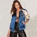 Новый женская одежда основные куртки зима хлопок повседневная верхняя одежда бренда пальто цветочные вышивки атласная куртки ребро US стиль пальто