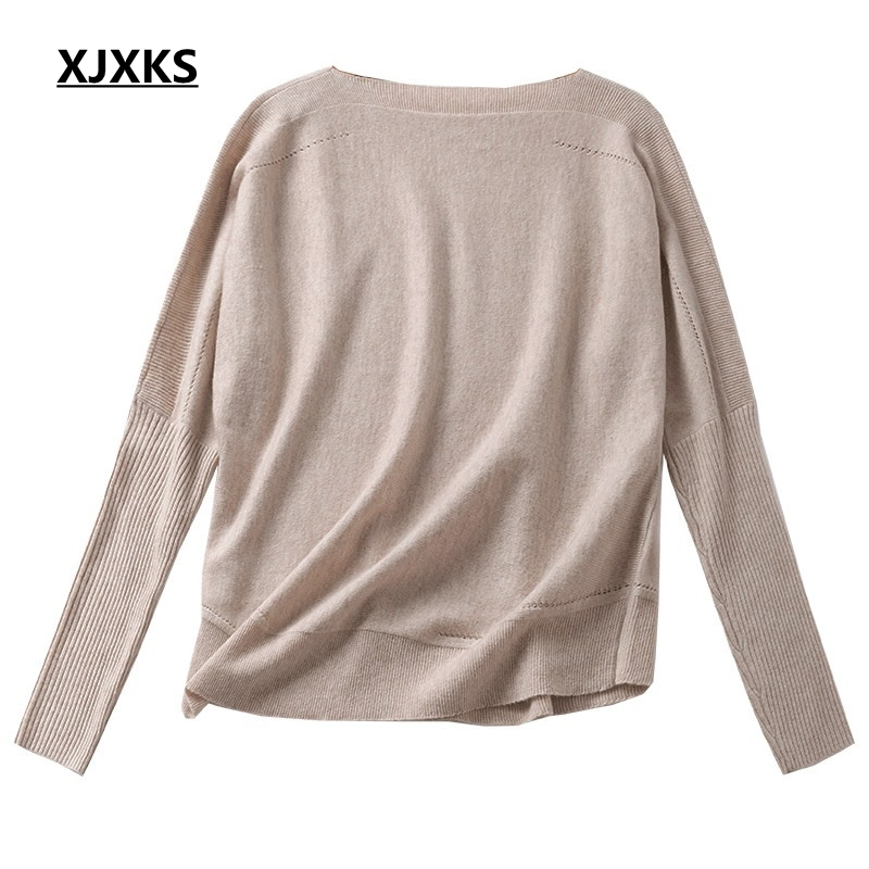Beige 4 Couleurs noir Cou Nouvelles Solide Femmes Mode Laine Xjxks Femme gris Pull Chandail Wear kaki Couleur Knit Slash Chandails Jumper aTxxZUq