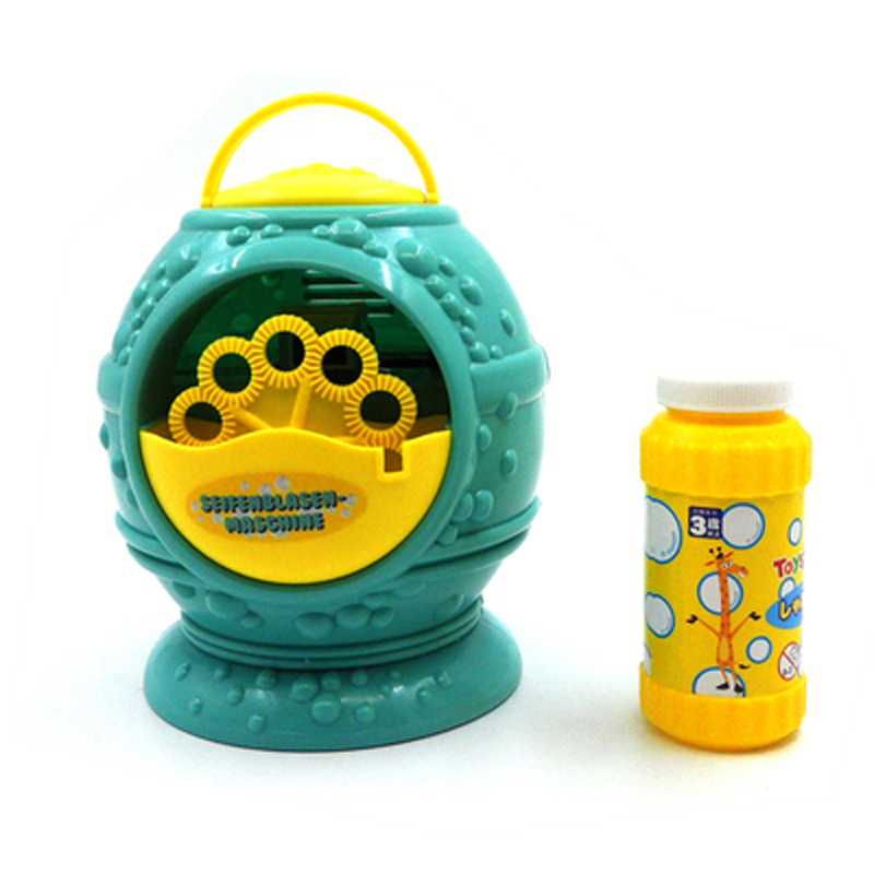 Electronic Automatic Bubble Machine Blue Plastic Bubble Blowing Soap Bubbles Baby Toys Bubble Machine Water Outdoor Toys