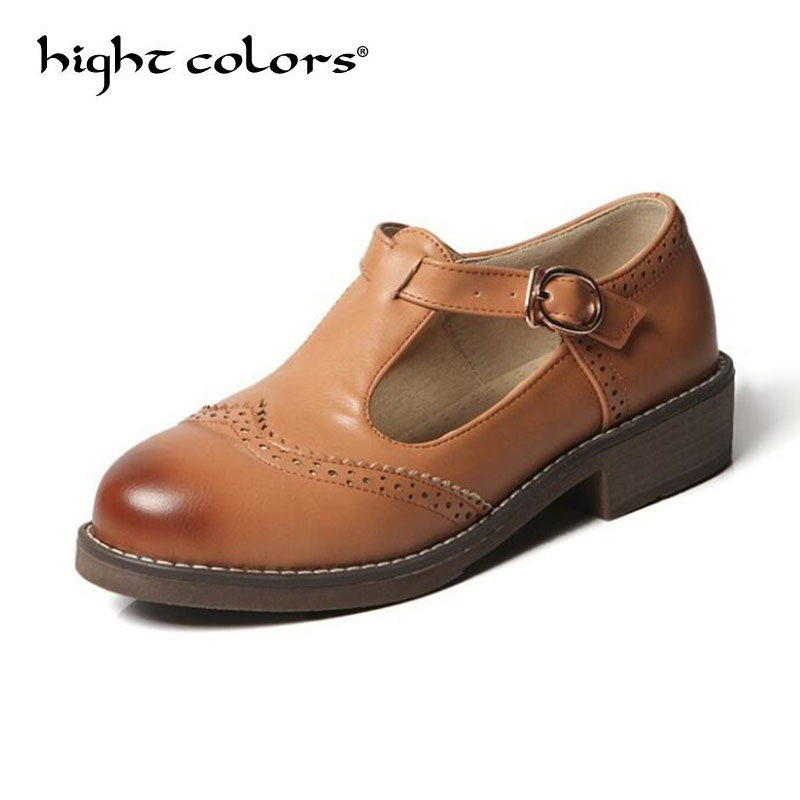 Plus Size Rubber Brogue Shoes Woman Platform Oxfords British Style Creepers Cut-Outs Flat Casual Women Shoes Black Beige Yellow