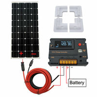 ECO WORTHY 100W Solar Panel kit 12V battery Charge 10A/20A Controller Caravan Boat Home RV Solar Cell 200W 300W Solar Charger