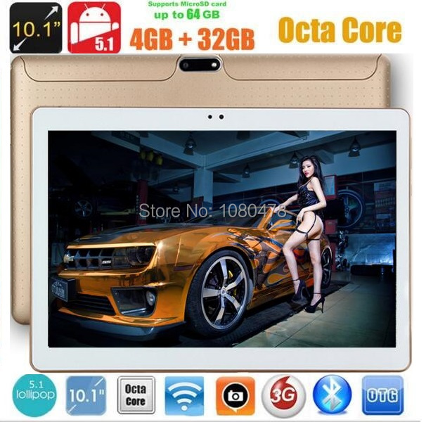 10 inch 3G 4G LTE tablet pc Octa Core 4G RAM 32GB ROM Android 5.1 1280*800 IPS 5.0MP Bluetooth GPS+Gifts DHL Free