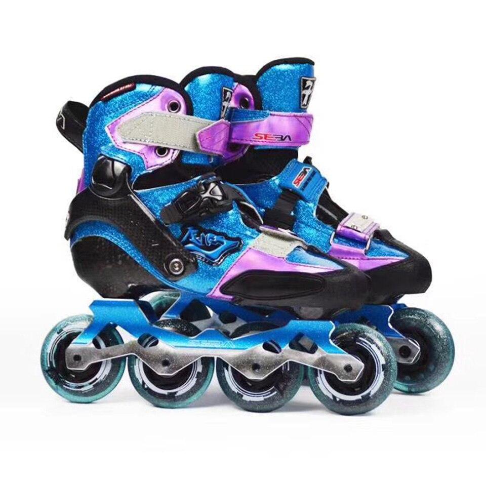 100% D'origine 2018 SEBA KSJ-J Junior Star Sky Enfant Patins À Roues Alignées Rouleau de L'enfant de la Fiber de Carbone Chaussures De Patinage Slalom Coulissante patines