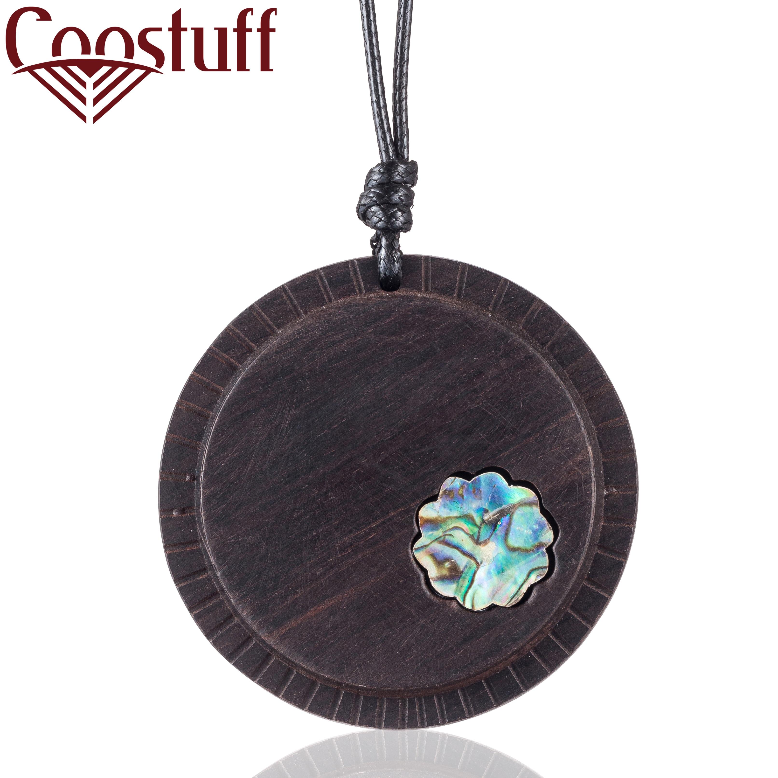 Big Pendant Sandalwood Necklaces Women Vintage Jewelry necklaces pendants women collares mujer choker kolye bijoux