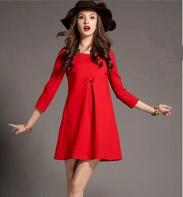5e4a82f3f Maternidad más tamaño primavera otoño de encaje rojo negro dress dress ropa  de maternidad para las