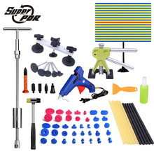Super PDR Paintless dent removal tools kit lamp reflective board dent puller lifter glue gun 57 pcs hand tools