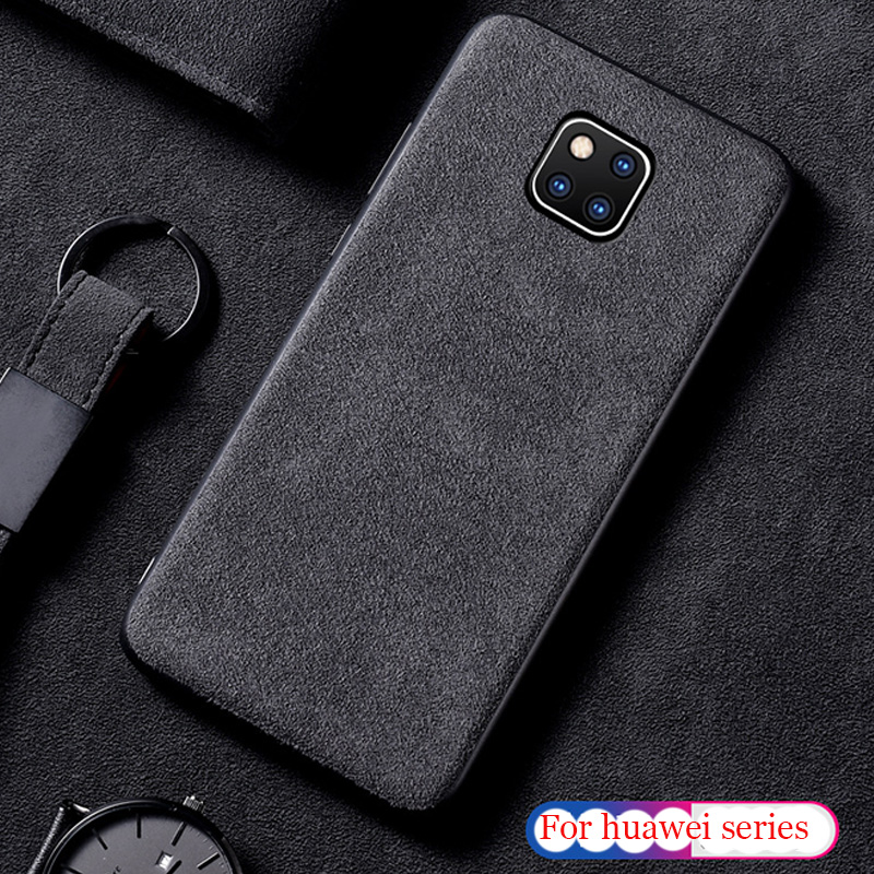 Italy Racing Car inner Suede Fur Phone Case For Huawei p9 p10 p20 mate 9 10 20 pro honer 8 9 lite leather Cover Marvel Funda image