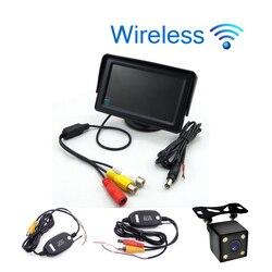 Bezprzewodowy samochód stylizacja 4.3 calowy ekran tft lcd Monitor samochodowy wyświetlacz do widoku z tyłu kamera cofania wyświetlacz tv samochodowy