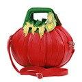 Abóbora Bolsas Braccialini Moda Pu Sacos de Ombro de Couro Vermelho Da Marca Designer de Moda de Um Ombro Sacos de Mulheres