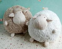 Candice guo! cute plush toy lovely cartoon fat sheep ball lamb doll soft long body pillow appease toy birthday Christmas gift 1p
