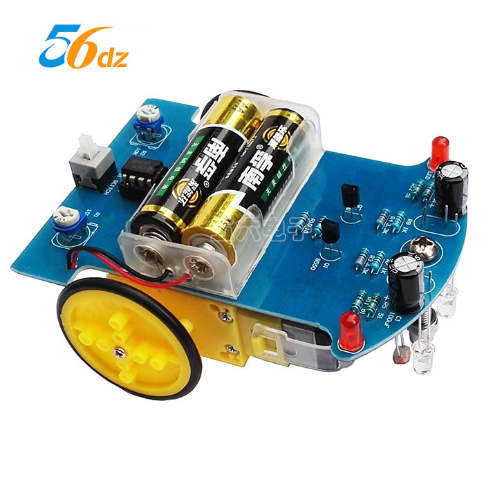 Intelligent Tracking Car Kit D2-1 Line Patrol Car Parts Production of Electronic Science and Technology DIY joseph emmanuel adopting intelligent completion for production optimization