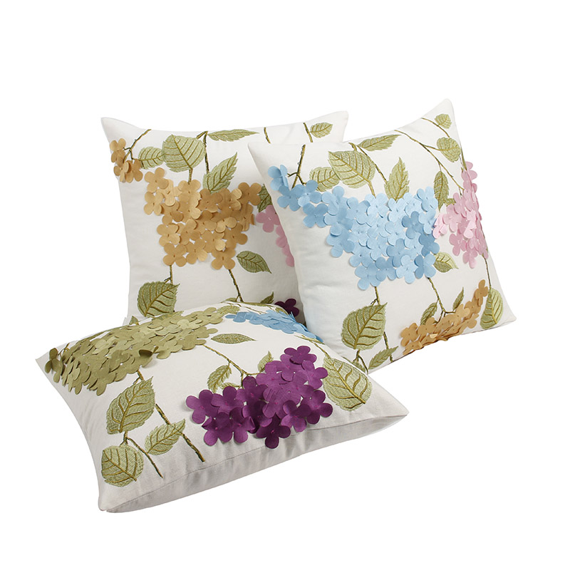 Handmade Flower Throw Cushions Cover Embroidered Sofa Pillowcase American  Rustic Throw Pillows Home Decor Couch Cusions Case New