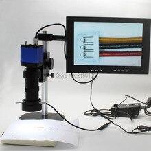 Big sale HDMI USB Full HD 1080P  Industrial Microscope Camera+8X-130X C-mount Lens+Workbench+Adjustable LED Light+10-inch Monitor