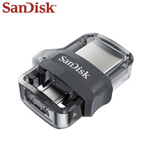 SanDisk OTG USB Flash Drive 32GB USB 3.0 Dual Drives 16GB PenDrives For PC And Android Phones Micro Usb For Free Shipping