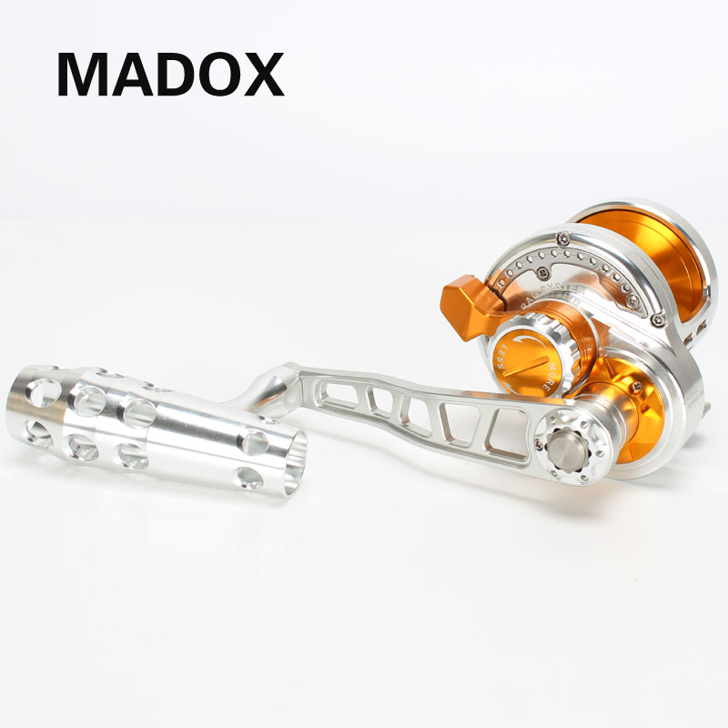 Madox Lento Pe4 #-400 m Max Arraste Carretel Jigging 30kg 10BB Tambor Reel Full Metal carretel de Liga Leve offshore de Corrico Carretel de Pesca em Alto-Mar