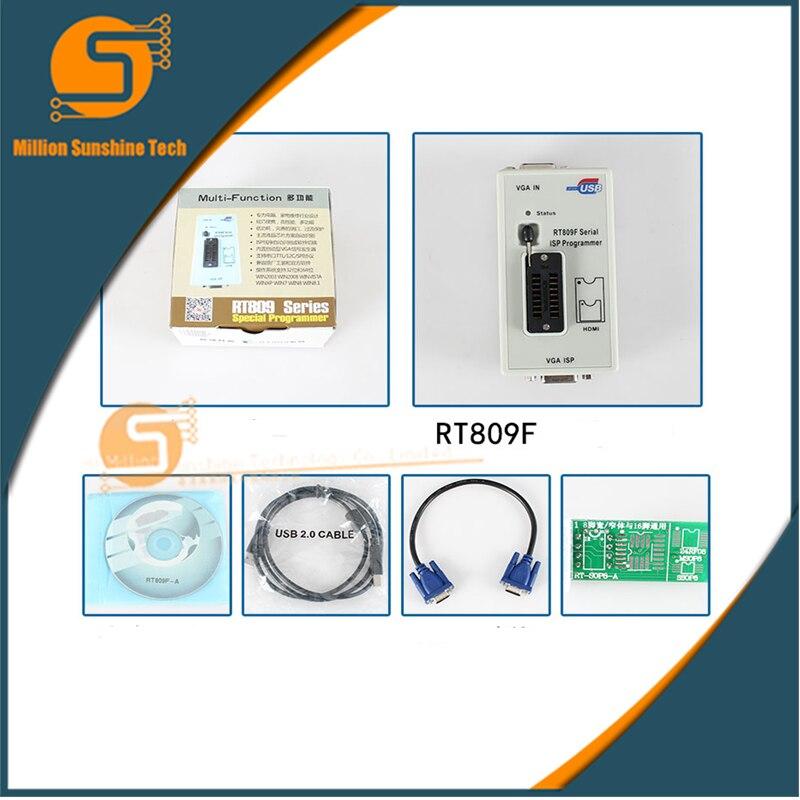 Livraison gratuite 100% Original plus récent RT809F fai programmeur/RT809 lcd usb programmeur outils de réparation 24-25-93 serise IC