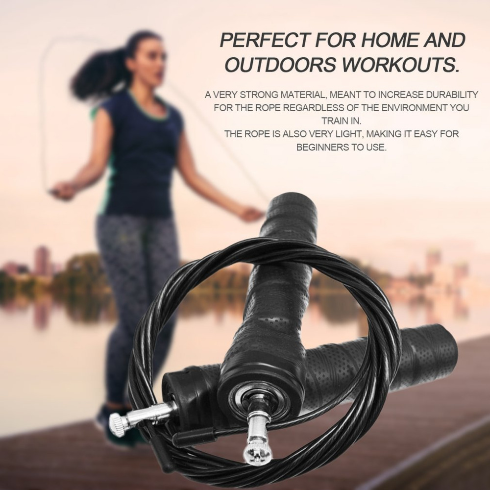 3M Adjustable Speed Skipping Rope Strength Training Adjustable Jump Rope Nonslip Handle Skipping Rope Gym Fitness Crossfit Jump neje dg0008 2 wireless skipping rope w 2 screen calorie counter grey white 2 x aaa