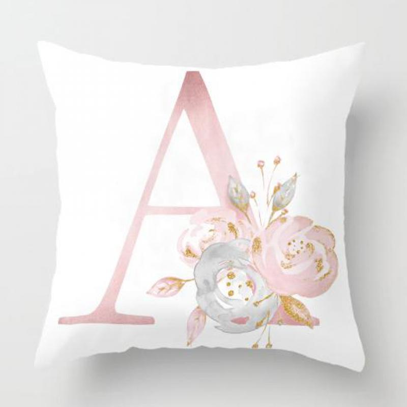 Kids Room Decoration Letter Pillow English Alphabet Children Plush Fabric Almofada Coussin Cushion For Birthday Party Supplies letter word printing soft plush square pillow case
