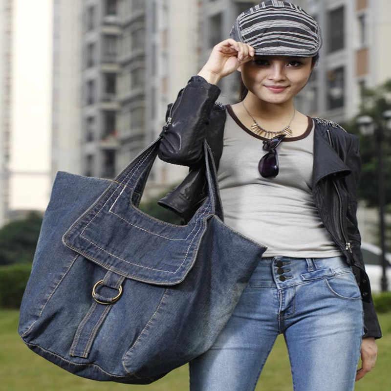 5c3e03f78 Bolso Kiple2018 nueva mezclilla de las mujeres Jeans bolsos vaquero  personalidad cremallera de gran capacidad femenino