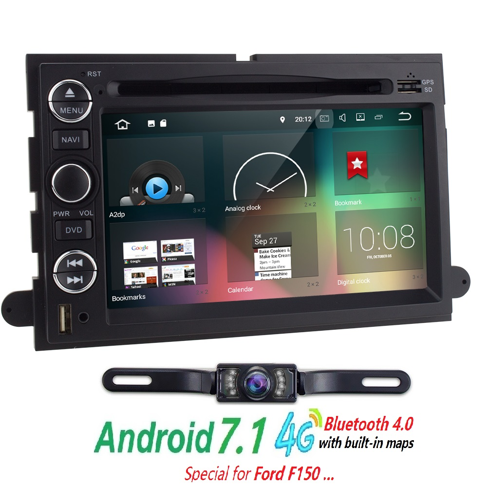 2 din android 7 1 car dvd player for ford f150 mustang expedition explorer fusion 2006 2007