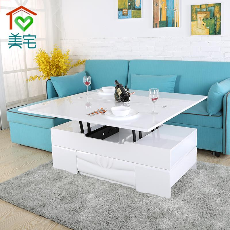 House Beautiful Quality Multifunction Lift Coffee Table With Stool Combination Small Apartment Telescopic Folding Side Tables In From