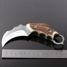 Jeslon Outdoor Karambit Knife Hunting Knives Camping Tool Survival Tactical Knife Stainless Steel Scorpion Claw Knife