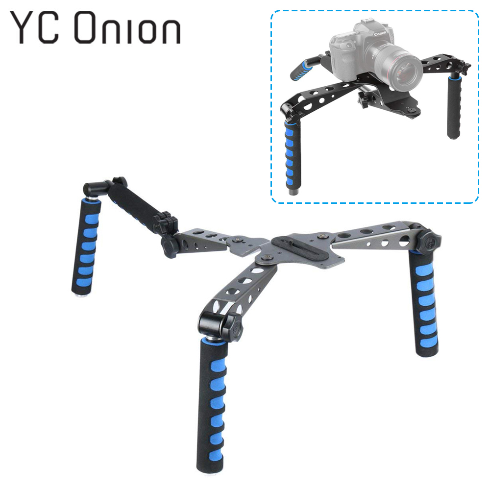 Aluminium Alloy Foldable Steady DSLR Rig System with Shoulder Mount For Video Stabilization Digital SLR Cameras and CamcordersAluminium Alloy Foldable Steady DSLR Rig System with Shoulder Mount For Video Stabilization Digital SLR Cameras and Camcorders