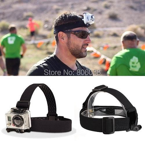 Gopro Accessories Elastic Adjustable Head Strap Mount Belt For GoProHD Hero 1 2 3 3 Cameras