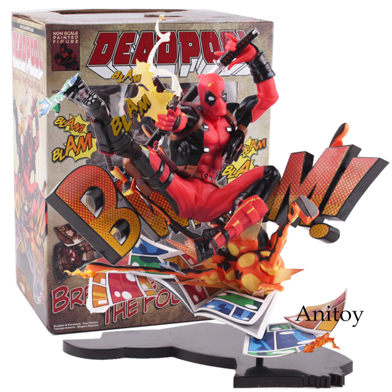 Deadpool Action Figure Mavel Toy Breaking The Fourth Wall PVC Deadpool Figure Collectible Model Toys Marvel