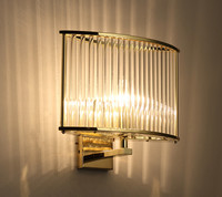Modern Simple Square Crystal LED Wall Lamp Fashion Simple Cozy Aisle Stairs Bedroom Bedside Wall Light Fixtures