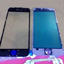 50pcs/lot For iPhone 6SPlus 6S Plus 6S+ Black&White Original Front Glass Lens+Original Middle Frame Bezel Bracket DHL FreeShip