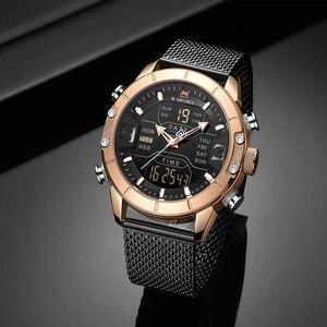 Image 4 - Naviforce 2019 Sport LED Digital Military Herren Uhren Top Brand Luxus Stahl Strap Armbanduhr Relogio Masculino montre homme
