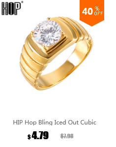 HIP Hop Micro Pave Rhinestone Iced Out Bling Square Ring IP Gold Filled  Titanium Stainless Steel Rings for Men Jewelry 335004b3e91e