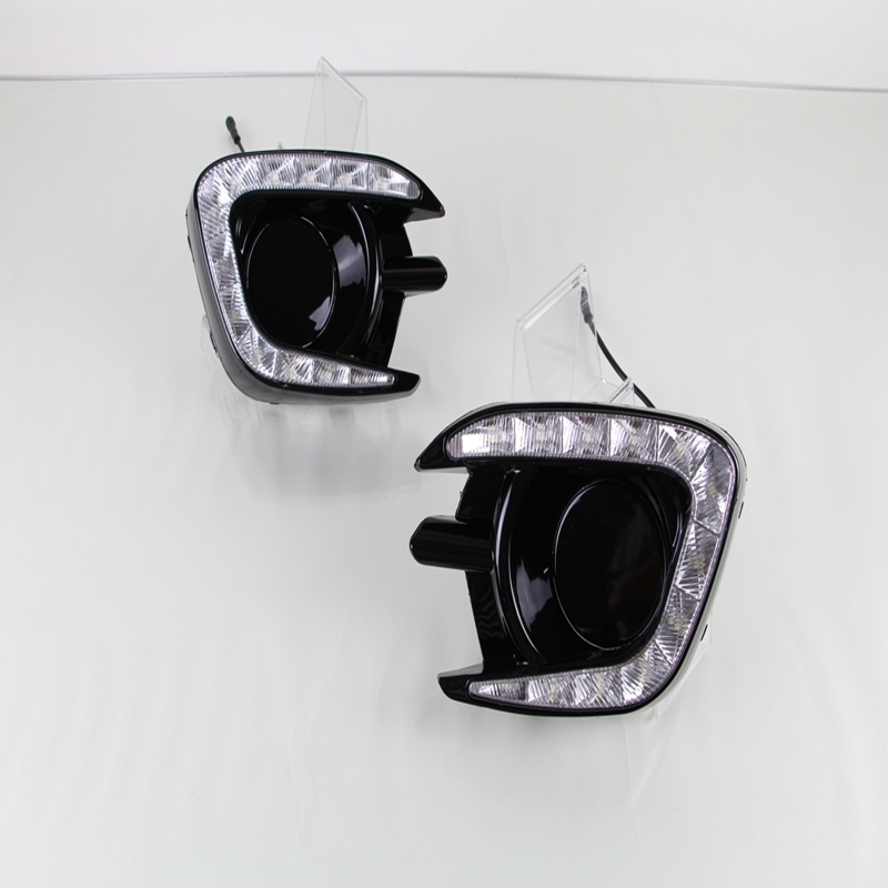1 Set LED DRL Daytime Running Lights Driving Fog Lamps White Yellow Turning Signal Lamps for Mitsubishi Pajero Sport 2013-2015 car drl running lights for mitsubishi pajero 2007 led daytime driving light
