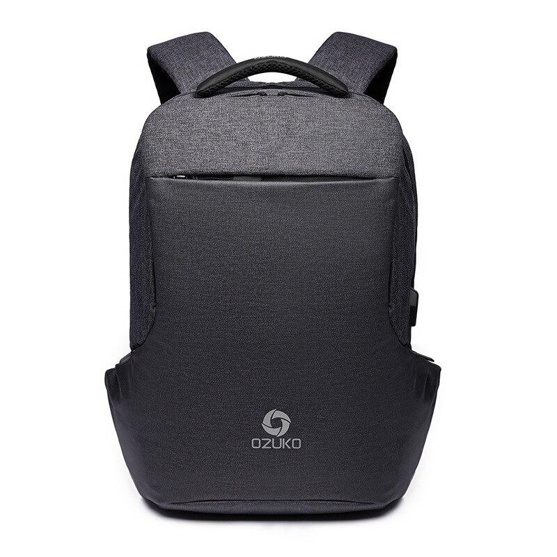 OZUKO nouveau sac à dos multifonctionnel hommes USB charge ordinateurs portables d'entreprise sac à dos de mode sac de voyage sacs d'école sac à dos sac à dos - 2