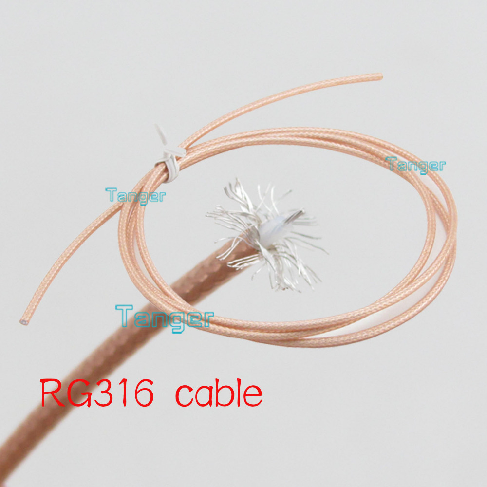 10cm 4inch RG316 RG-316 RF Coaxial Pigtail Jumper Extension Cable  4