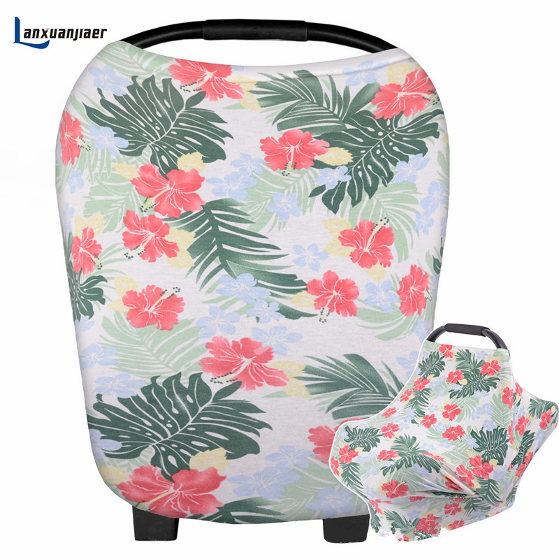Nursing Breastfeeding Cove Infinity Nursing Scarf Breathable Privacy Cover for Mom.Multi UseCar Seat Shopping Car Floral pattern