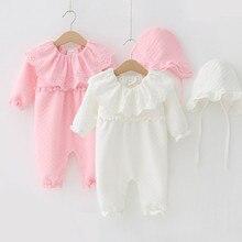 Winter New child Child Lady Garments Air Cotton Lace Turndown Collar Heat Thicken Jumpsuit Clothes Units Ladies Bodysuit+ Hats