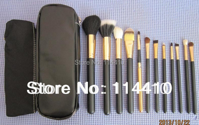 hot sale 2014 Fashion New Professional 12 pcs Makeup  Brushes Cosmetic Facial Care Beauty Make Up Set With 2 Case Bag