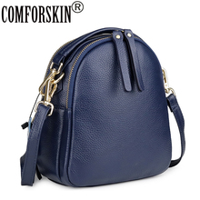 COMFORSKIN Womens Leather Totes Premium Cowhide Ladies Messenger Bag Fashion Brand Girls Handbags Bolsas Feminina High Quality